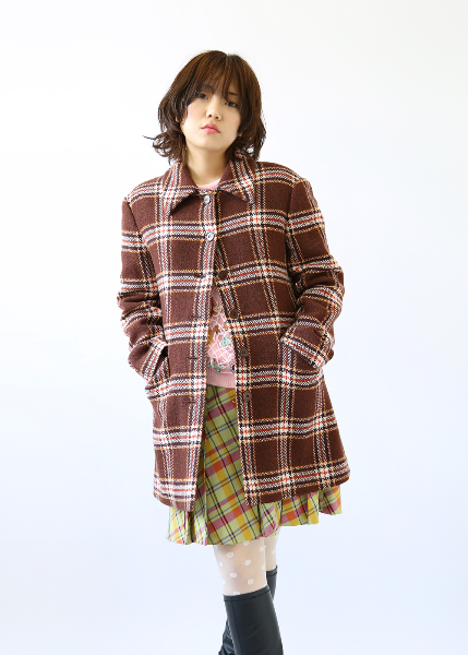 BROWN VIRGIN WOOL COAT