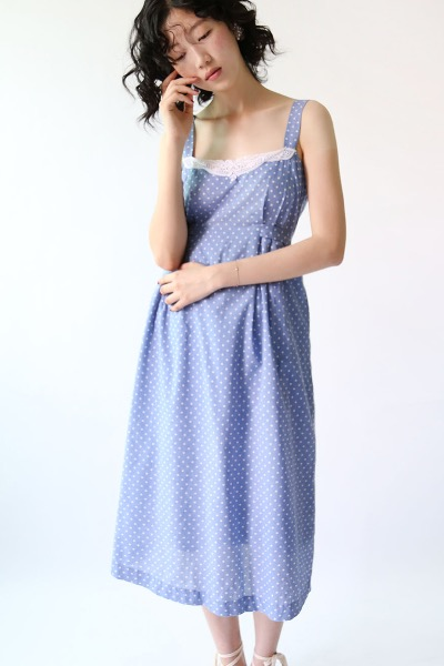 PASTEL BLUE DOTS DRESS