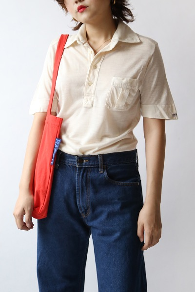 IVORY ONE POCKET SHIRT(made in Italy)