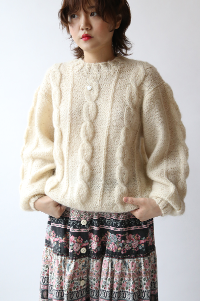 IVORY TWISTED SWEATER