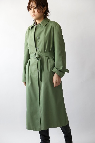 MOSS GREEN TRENCH COAT