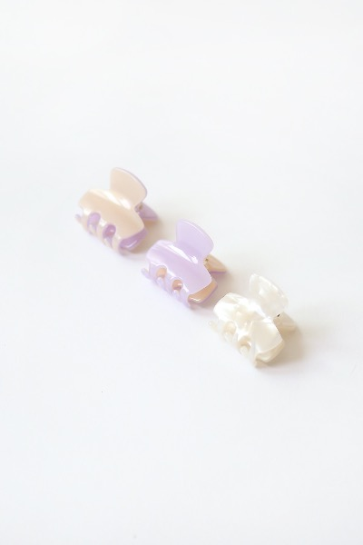 FRENCH MINI PIN( marble, violet, peach)