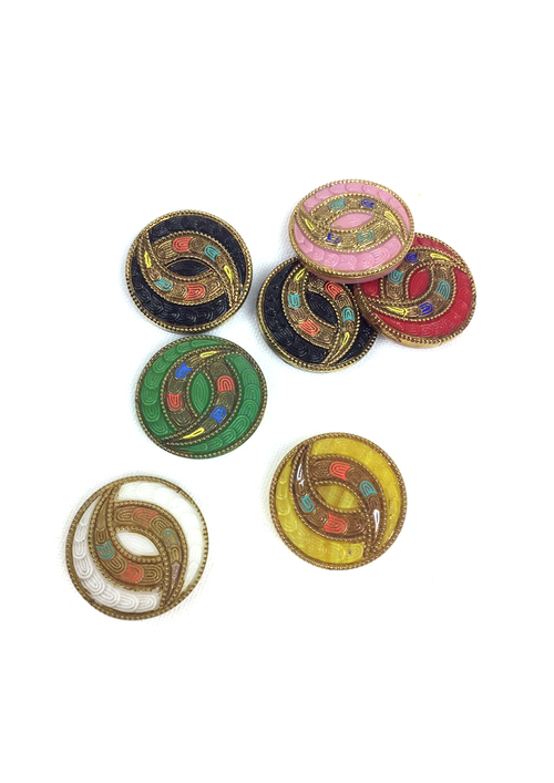 20'S ART DECO GLASS BUTTONS
