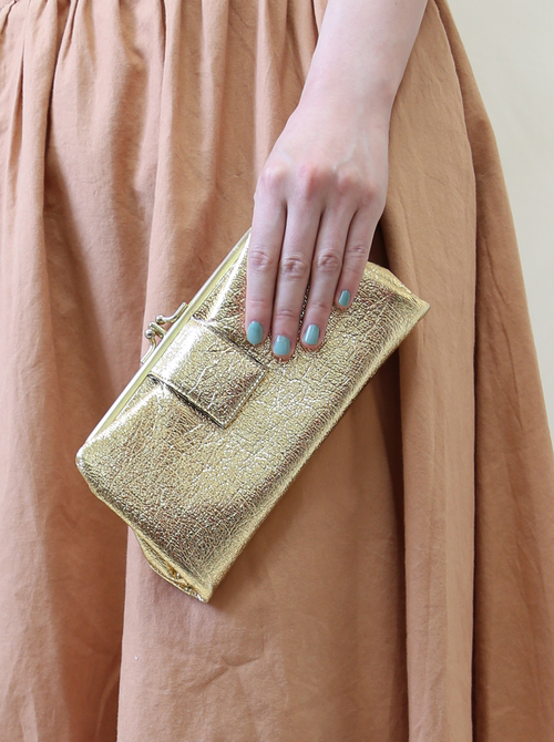 GOLD LAME CLUTCH