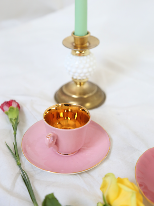 PINK & GOLD TEA CUP FROM NORWAY