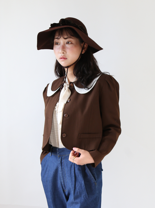 BROWN CROPPED JACKET
