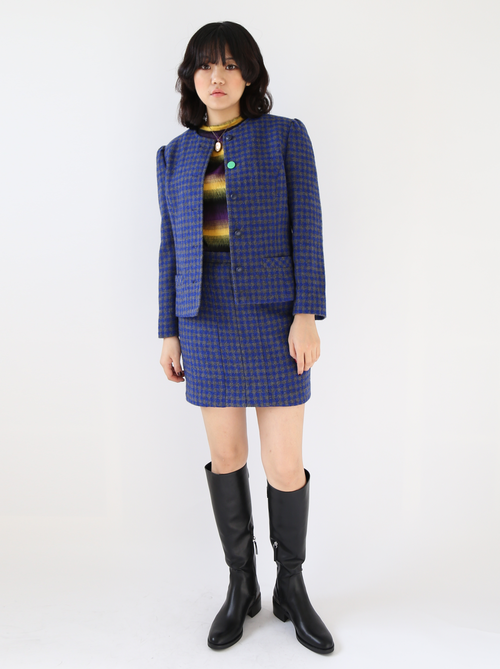BLUE CHECKED WOOL SUIT