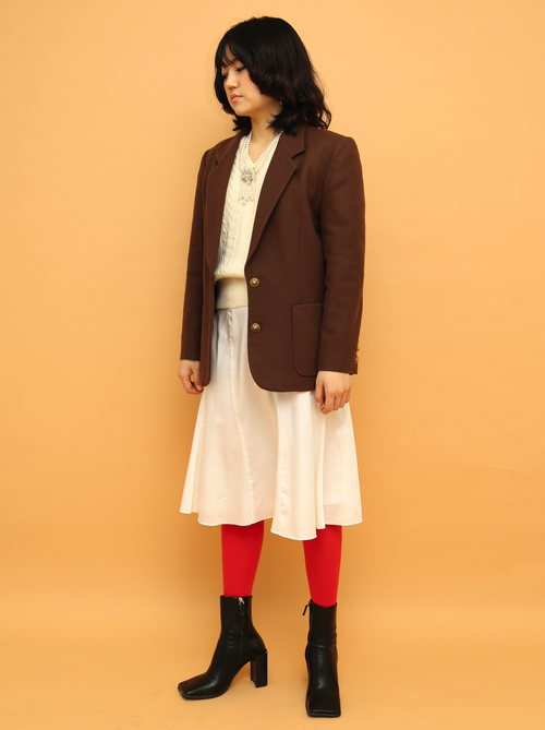 BROWN SOFT WOOL JACKET