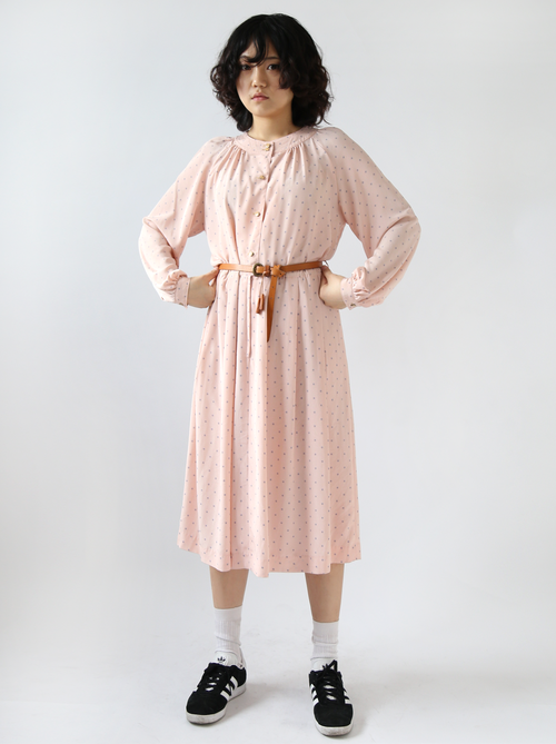 BABY PINK DOTTED DRESS