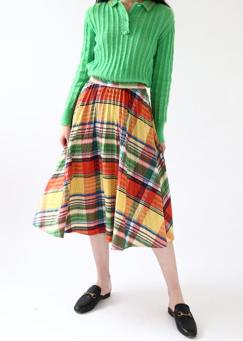 ACCORDION FLARE SKIRT