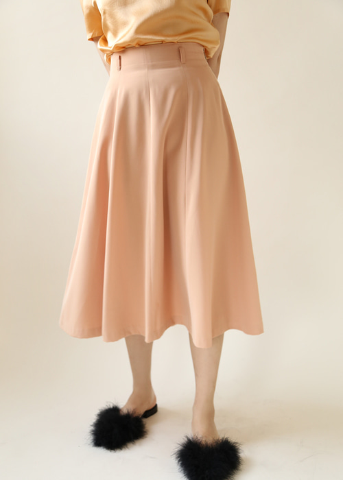 CORAL FLARE SKIRT