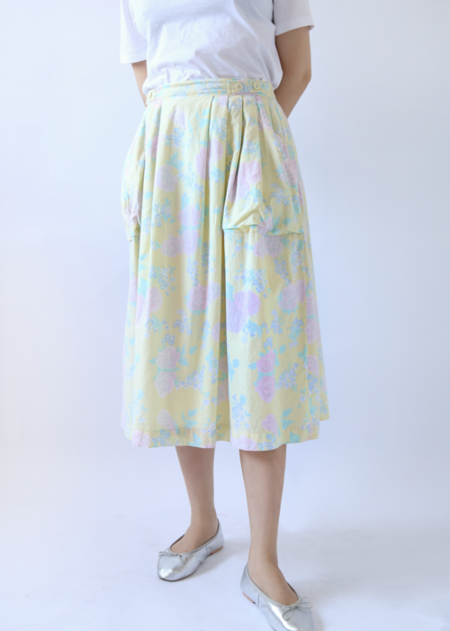 PASTEL YELLOW COTTON SKIRT