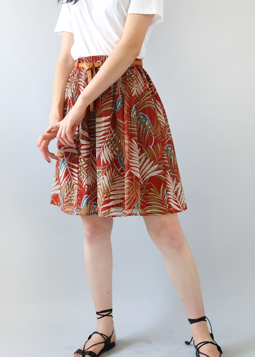 PALM TREE PRINTED SKIRT