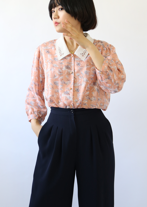 PEACH DELICATED BLOUSE