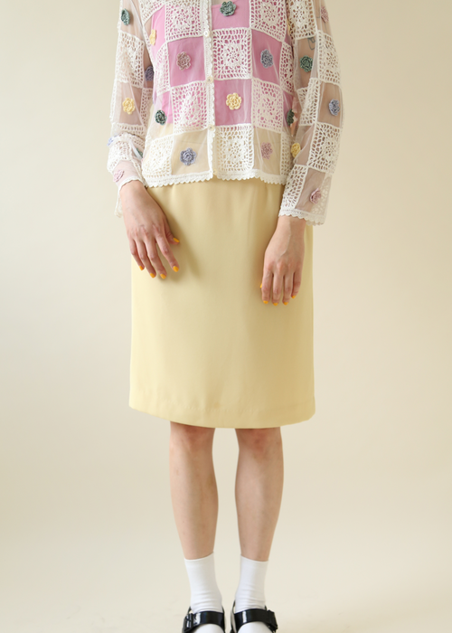 PASTEL YELLOW SKIRT