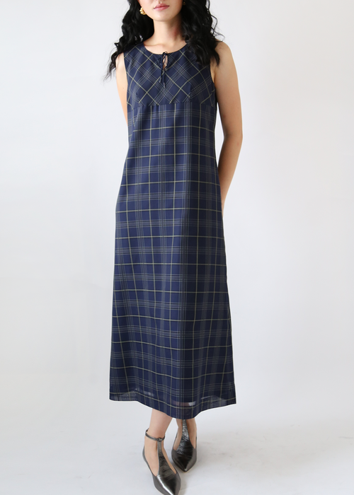 PREPPY CHECK LONG DRESS
