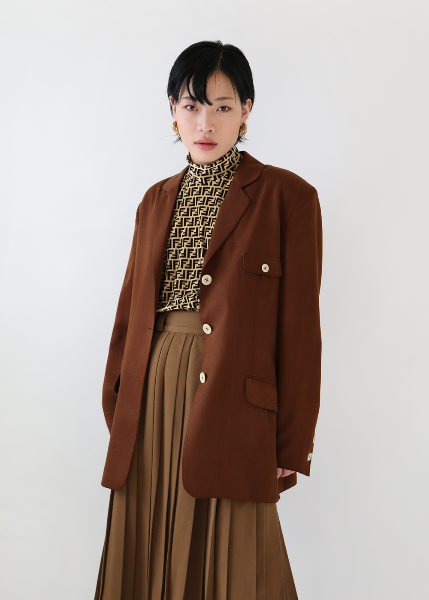 BROWN LYOCELL JACKET