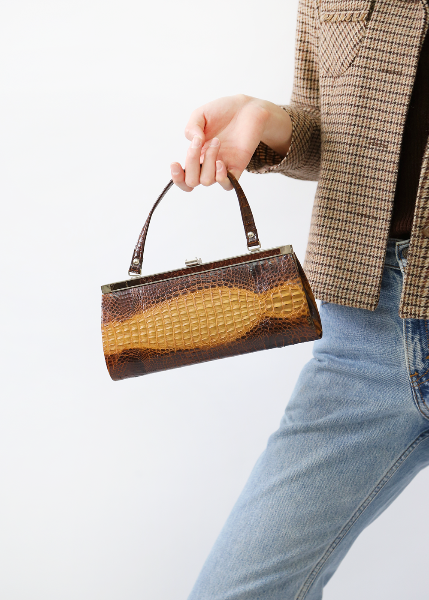 FAUX ALLIGATOR BAG