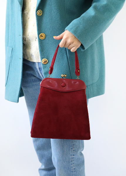 BURGUNDY STRUCTURED BAG