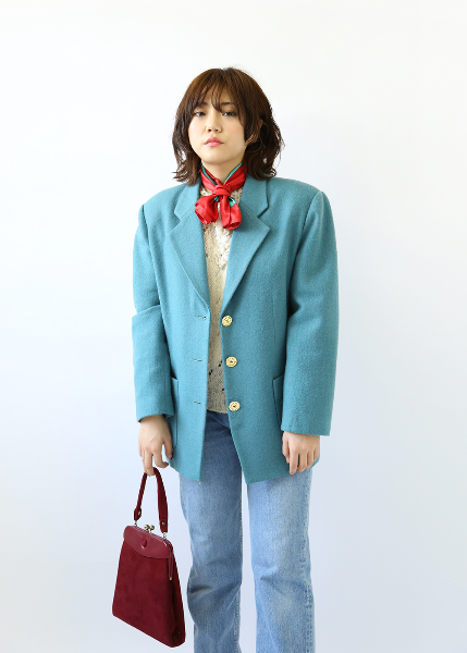 PASTEL BLUE BOXY JACKET