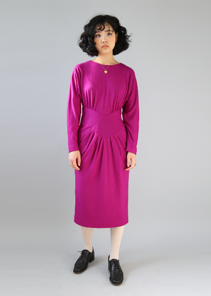 FUSCHIA PINK WOOL DRESS