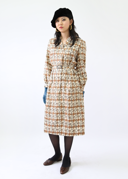 ECCENTRIC BEIGE DRESS