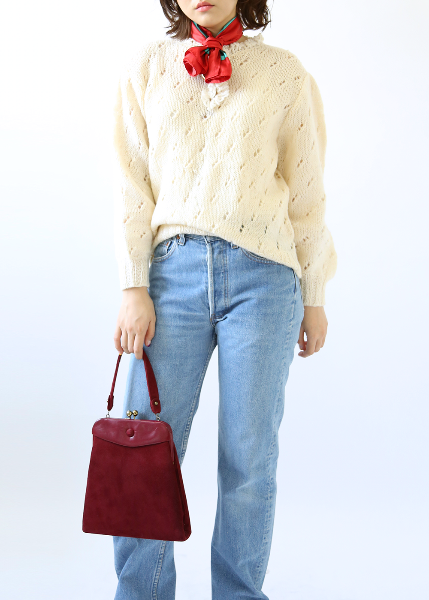 CREAM CROCHET KNIT