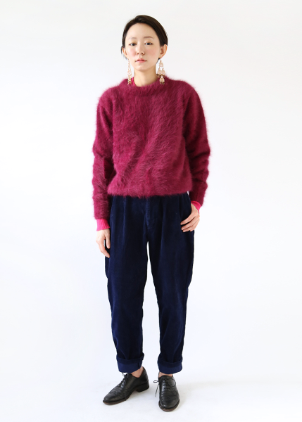 PLUM ANGORA SWEATER