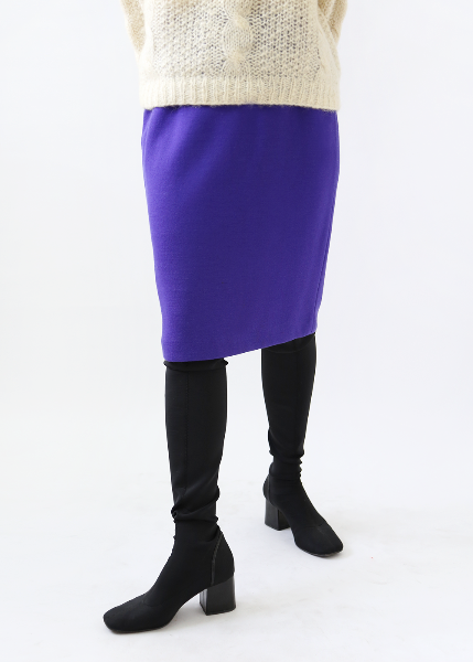 PURPLE KNIT SKIRT