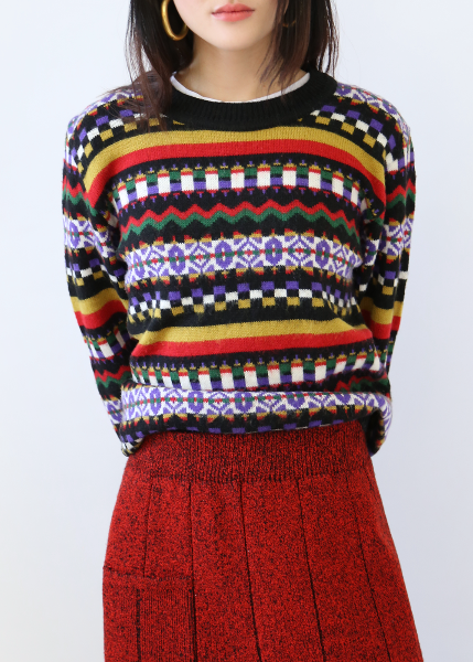 RAINBOW BLACK SWEATER