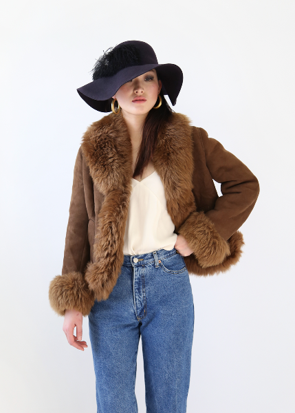 CAPPUCINO SHEEPSKIN JACKET