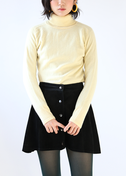 PASTEL YELLOW CASHMERE KNIT