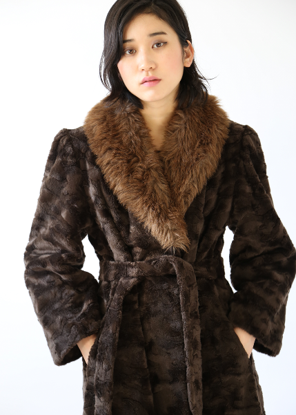 1980'S WILD FAKE FUR COAT