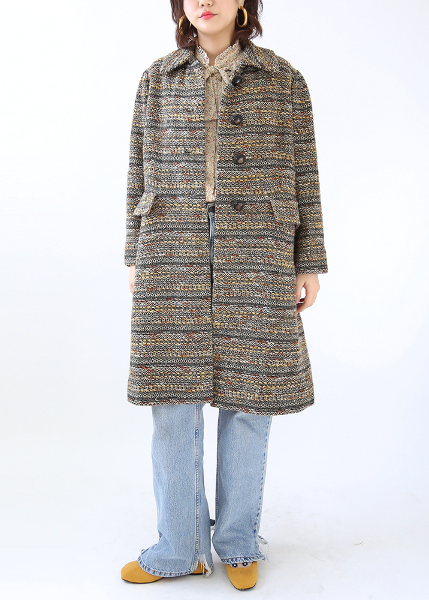 CLASSIC TWEED LONG COAT