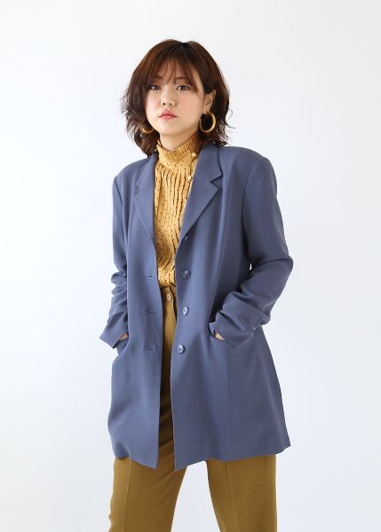 DUSTY BLUE LONG JACKET