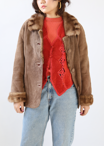 MOCHA BROWN SHEEPSKIN JACKET