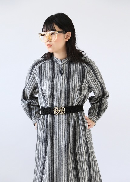 BLANKET STRIPED DRESS