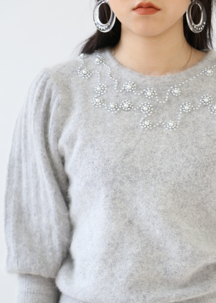 SOFT GRAY PERALS SWEATER