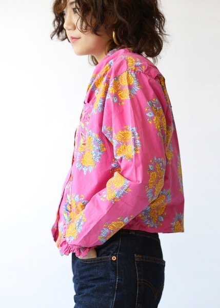 90'S PINK OILILY BLOUSE