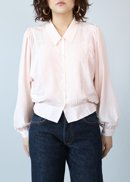 BABY PINK DOTS BLOUSE