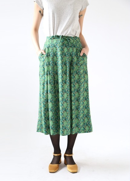 SUMMER FOREST GREEN SKIRT