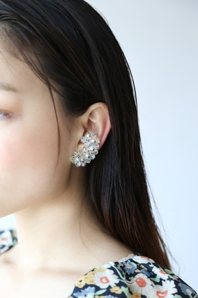 TRANSPARENT CRYSTAL EARRINGS
