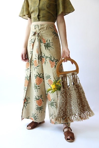 PINEAPPLE WIDE LEG PANTS