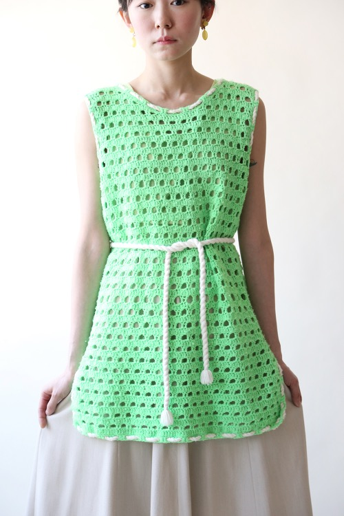 NEON GREEN KNIT WITH STRING