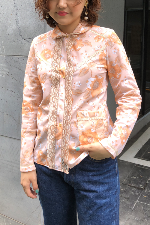 NEON ORANGE LACE SHIRT