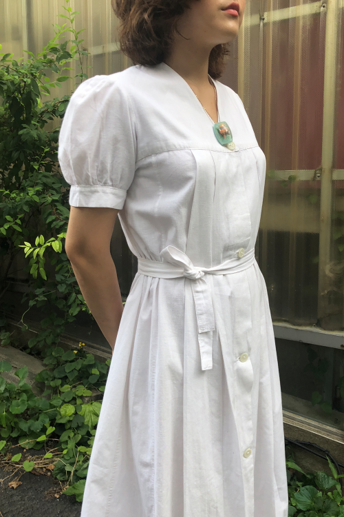 1940'S UNIFORM COTTON DRESS