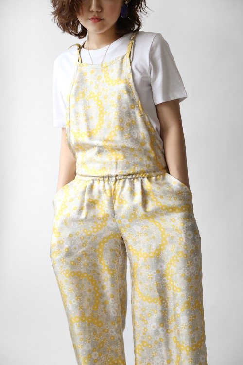 YELLOW DAISY SILK JUMPSUIT