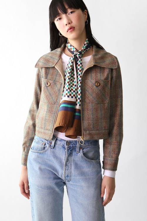 70'S BROWN CROPPED JACKET