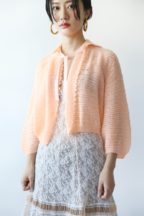 SALMON PINK RIBBON CARDIGAN