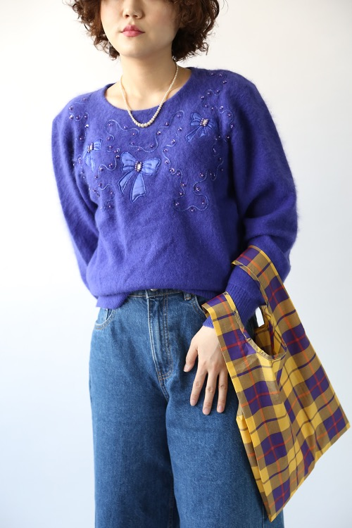 ANGORA RIBBON SWEATER